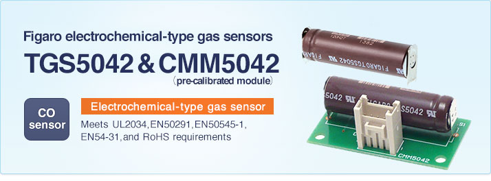 TGS5042,TGS5342 and CMM5042 for the detection of Carbon Monoxide